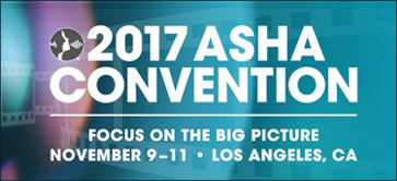 The 2017 ASHA Convention