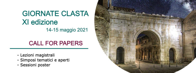 Giornate CLASTA CALL FOR PAPERS