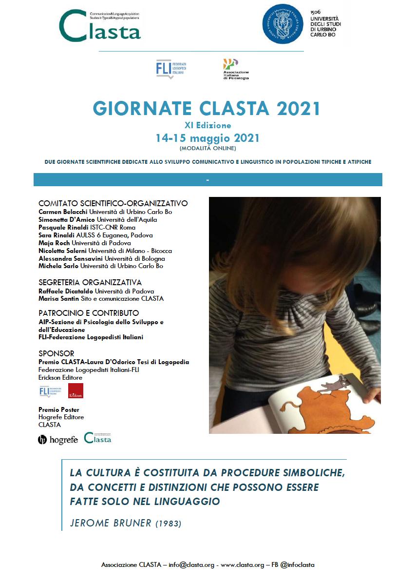 PROGRAMMA GiORNATE CLASTA 2021